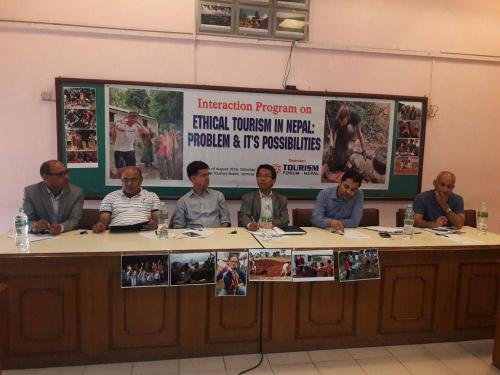 Social and Ethical Tourism event, organize by Tourism Forum Nepal