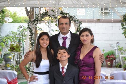 Shanta and her family