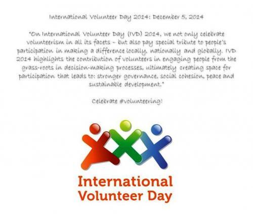 International #Volunteer Day: December 5, 2014 | Sharing4good
